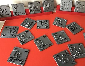 Periodic Table of Elements d-block 3D printable model 3