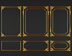 classic gold decoration 3D model