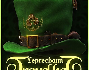 Leprechaun Travel Hat 3D asset