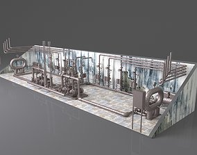 3D Fire-fighting pumping station