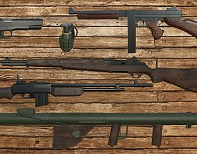 World War 2 Weapons Pack 3D asset