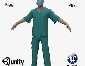 doctor 3D model rigged