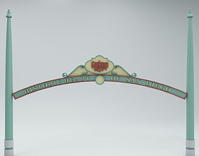 exit 3D Gaslight Quarter Arch