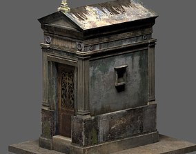 3D Weathered Leaking Mausoleum