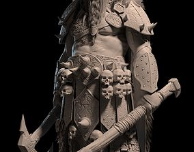 3D Barbarian Warrior character model -