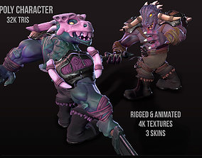 Caiman - animated game-ready character 3D model