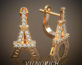 3D print model errings Eiffel tower jewel