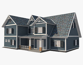 3D asset Traditional House 08