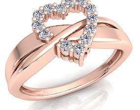 3D print model Heart Diamond Ring 39