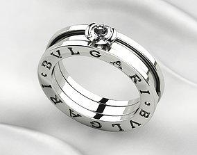 Bvlgari Zero Gold Ring 3D print model