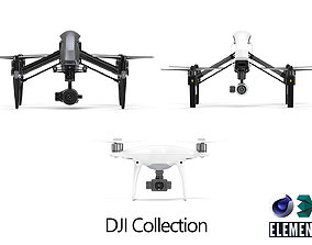 DJI Collection drones 3D model