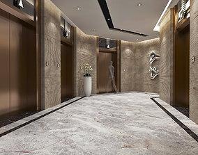 3D asset Modern Hotel Elevator Hall