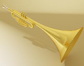 3D model VR / AR ready Trumpet