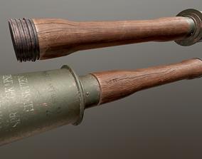 German WW2 Stielhandgranate Grenade 3D asset