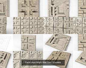 3D model Frank Lloyd Wright Wall Tiles lloyd