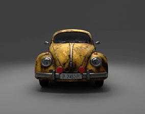3D Volkswagen BeetleSplit car