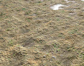 Muddy terrain and puddles 2 PBR 3D