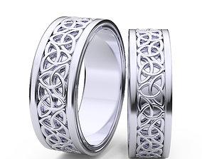 3D print model ring women man celtic