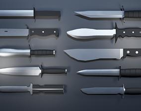 LowPoly Knife - 10 3D asset