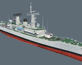 Leander class frigate 3D