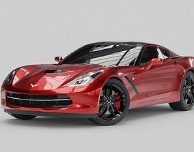 Chevrolet Stingray Corvette 3D rigged
