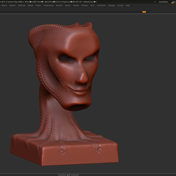 Modern concept head sculpture 3d print model 3D