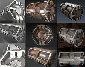 Futuristic Backup Generator Pack 3D asset low-poly