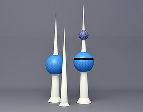 Kuwait Tower 3D model