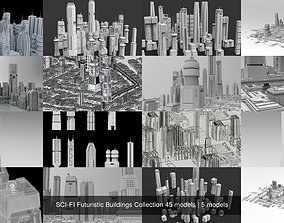SCI-FI Futuristic Buildings Collection 45
