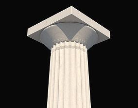 3D model Doric order column b