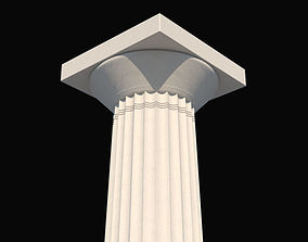 3D model Doric order column b