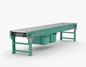 3D model Roller Conveyor equipment