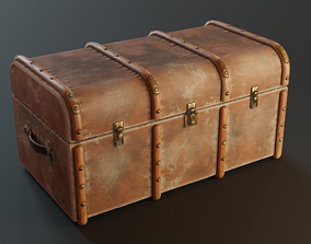 Old Chest cabinet 3D model game-ready