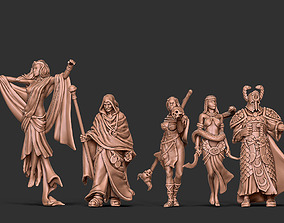 3D print model Sorecery bundle - 5 miniatures 35 mm scale