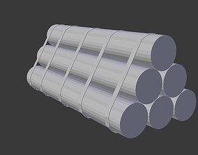 Steel Cylinder 3D asset