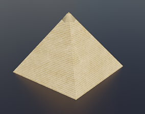 design Pyramid 3D model game-ready