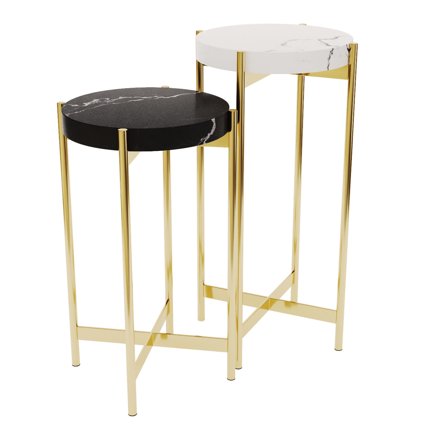 Side Tables . Set 02