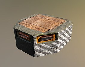 Military zombie apocalypse fortification Game 3D model
