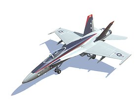 3D model FA-18 Hornet Jet Fighter Aircraft
