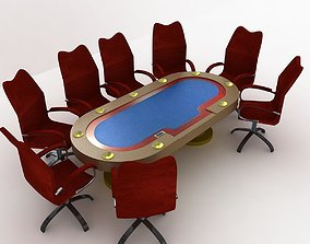Poker Table texas 3D