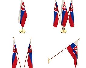 3D Slovakia Flag Pack