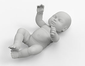 Baby Figurine in a Crib Figurine 3D printable model