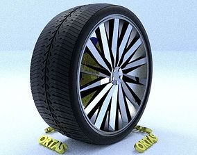 ORTAS CAR RIM 27 GAME READY RIM TIRE AND DISC 3D