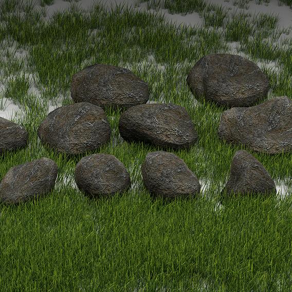 Lowpoly Rocks pack