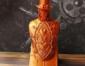 3D printable model Steampunk Bust
