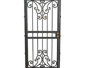 3D model Wrought iron gate 12