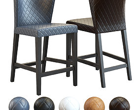 Crate and Barrel - Curran Quilted Counter Stool 3D model