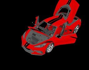 3D model Chevrolet Corvette C8 2020