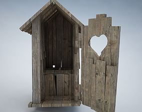 3D model Small Wooden Shed