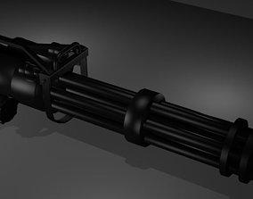 Minigun 3D asset